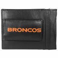 Denver Broncos Logo Leather Cash and Cardholder