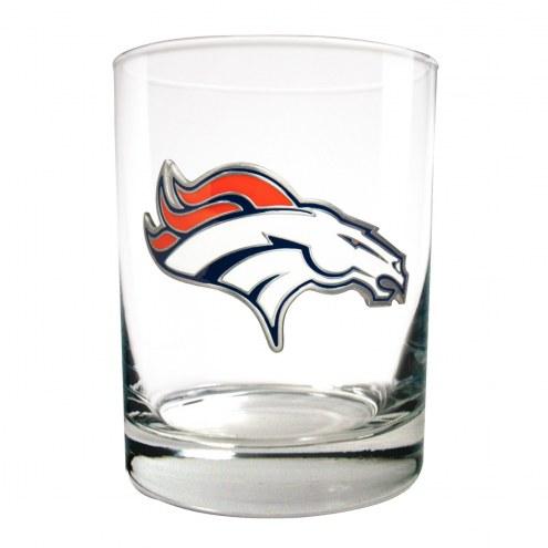 Denver Broncos Logo Rocks Glass - Set of 2