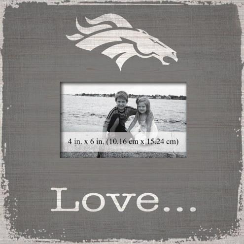 Denver Broncos Love Picture Frame