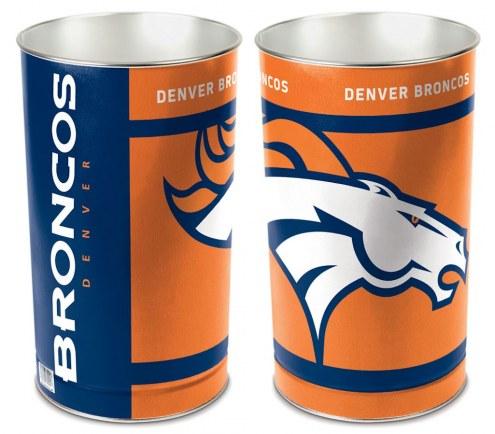 Denver Broncos Metal Wastebasket