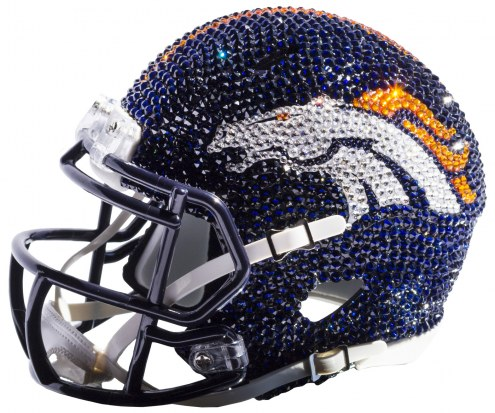 Denver Broncos Mini Swarovski Crystal Football Helmet