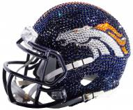 Denver Broncos Mini Swarovski Crystal Football Helmet