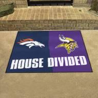 Denver Broncos/Minnesota Vikings House Divided Mat