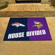 Denver Broncos/Minnesota Vikings House Divided Mat