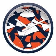 Denver Broncos Modern Wall Clock