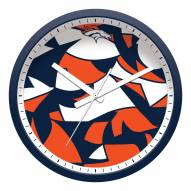 Denver Broncos Modern Wall Clock