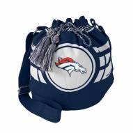 Denver Broncos Navy Ripple Drawstring Bucket Bag
