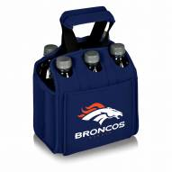 Denver Broncos Navy Six Pack Cooler Tote