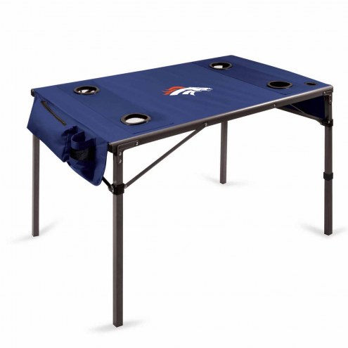 Denver Broncos Navy Travel Table