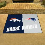 Denver Broncos/New England Patriots House Divided Mat