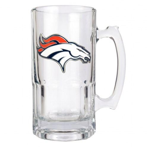 Denver Broncos NFL 1 Liter Glass Macho Mug