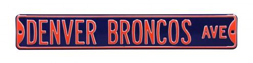 Denver Broncos NFL Authentic Street Sign