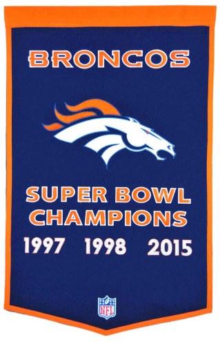 Denver Broncos NFL Dynasty Banner