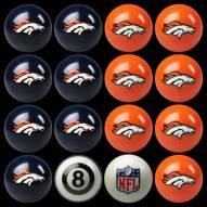 Denver Broncos NFL Home vs. Away Pool Ball Set