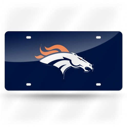 Denver Broncos NFL Laser Cut License Plate