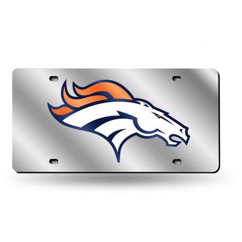 Denver Broncos NFL Silver Laser License Plate