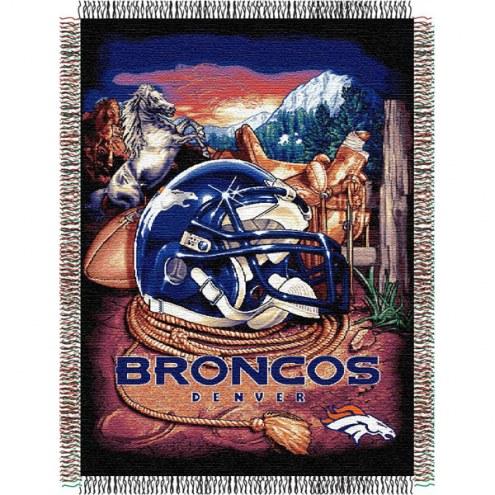 Denver Broncos NFL Woven Tapestry Throw