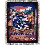 Denver Broncos NFL Woven Tapestry Throw