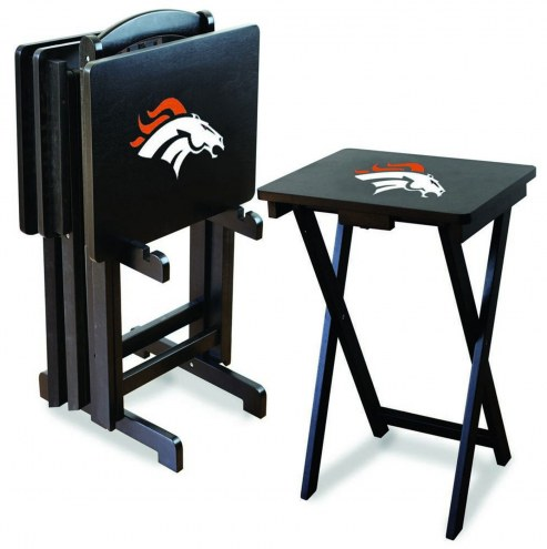 Denver Broncos NFL TV Trays - Set of 4