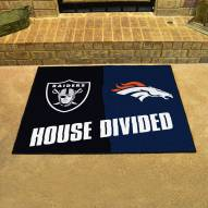 Denver Broncos/Las Vegas Raiders House Divided Mat