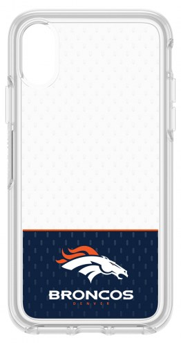 Denver Broncos OtterBox iPhone X Symmetry Clear Case
