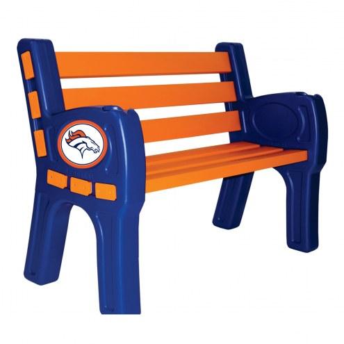 Denver Broncos Park Bench