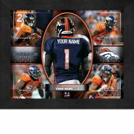 Denver Broncos Personalized 11 x 14 Framed Action Collage