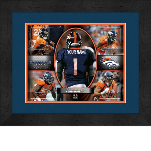Denver Broncos Personalized 13 x 16 Framed Action Collage