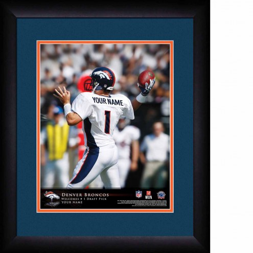 Denver Broncos Personalized 13 x 16 NFL Action QB Framed Print