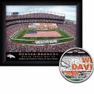 Denver Broncos 11 x 14 Personalized Framed Stadium Print