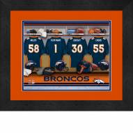 Denver Broncos Personalized Locker Room 13 x 16 Framed Photograph