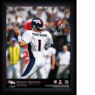 Denver Broncos Personalized 11 x 14 NFL Action QB Framed Print