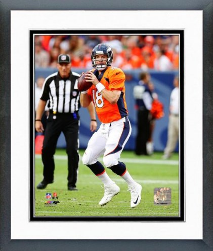 Denver Broncos Peyton Manning Action Framed Photo