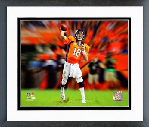 Denver Broncos Peyton Manning Motion Blast Framed Photo