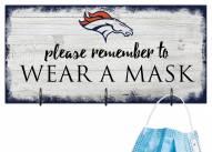 Denver Broncos Please Wear Your Mask Sign