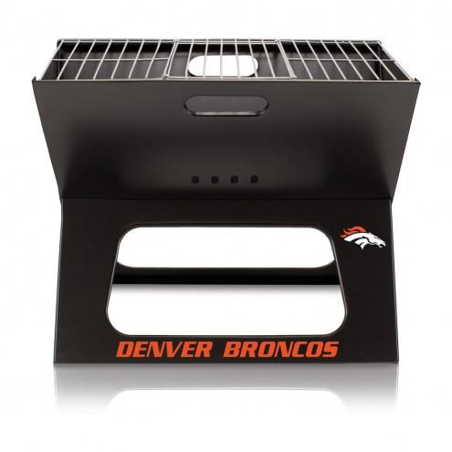 Denver Broncos Portable Charcoal X-Grill