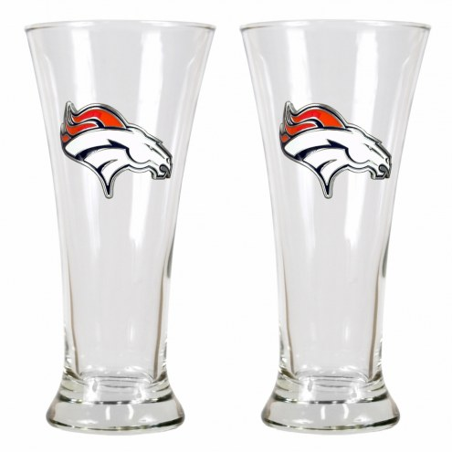 Denver Broncos Premiere Pilsner Glass Set