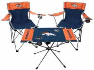 Denver Broncos Table & Chairs Set