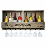 Denver Broncos Reclaimed Wood Bar Shelf
