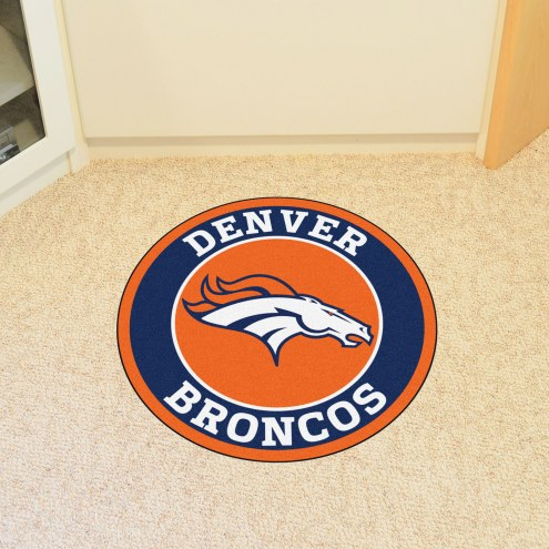 Denver Broncos Rounded Mat