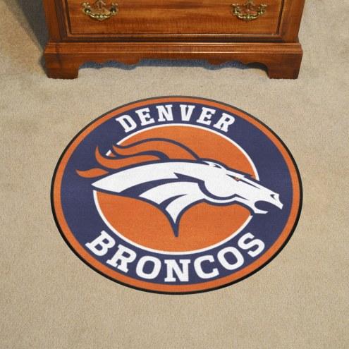 Denver Broncos Rounded Mat
