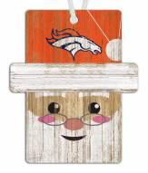Denver Broncos Santa Ornament