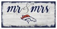 Denver Broncos Script Mr. & Mrs. Sign