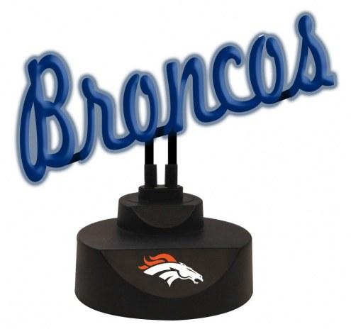 Denver Broncos Script Neon Desk Lamp