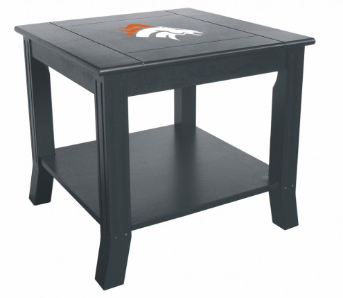 Denver Broncos Side Table