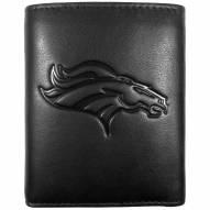 Denver Broncos Embossed Leather Tri-fold Wallet