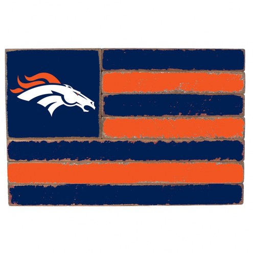 Denver Broncos Small Flag Wall Art