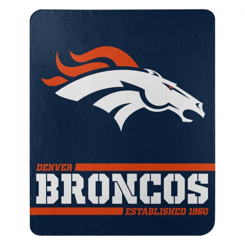 Denver Broncos Split Wide Fleece Blanket