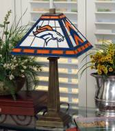 Denver Broncos Stained Glass Mission Table Lamp