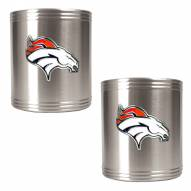 Denver Broncos Stainless Steel Can Coozie Set
